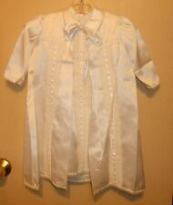 Phyliss Baby Wear Unisex Christening Baptism Satin Gown & Coat 0-6M NWT
