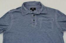 ROCK & REPUBLIC Light Blue Short Sleeve Pocket Polo Shirt Men's L Large