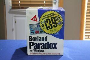 Borland Paradox v1.0 for Windows 3.1