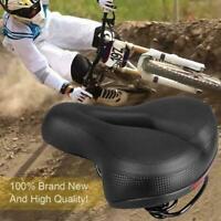 Soft Wide Bum Bike Bicycle Gel Cushion Extra Comfort Pad Sporty Saddle Seat T8Q8
