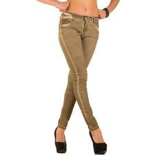 Markenlose coloured Damen-Jeans mit mittlerer Bundhöhe