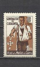 0522-SPAIN CIVIL WAR ESPAÑA GUERRA CIVIL AJUTS MUTILATS** LUXE.CATALUNYA.1  PTA