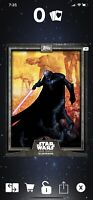 Star Wars Card Trader 2019 CTI Wave 3 Darth Vader Illustrated Gray Digital Card