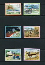 Liberia 1974 #663-8 IMPERF U.P.U.  transport space ships aviation  6v. MNH  F756