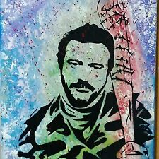 Original Painting The Walking Dead Negan W/ Glen's Blood on Lucille