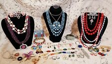 Vintage & Modern Colorful Costume Jewelry Lot - Trifari, Monet