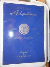 SUNBEAM ALPINE SILVER JUBILEE 1959 - 1968 OWNERS CLUB BOOK HARRINGTON LE MANS