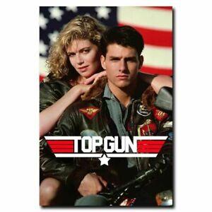 H076 Hot Top Gun 80s Classic Movie Silk Art Poster Decor
