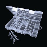 Transparent AAA/AA/C/D/9V Battery Storage Rack Battery Hard Box Holder Plastic