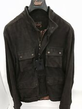 BARBED EXTRA QUALITY LAMB LEATHER SUEDE JACKET DARK BROWN Size M Orig.P $995