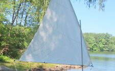 Dacron Sail for Super Snark or Sea Snark or DIY boat -- 45 SF -- white
