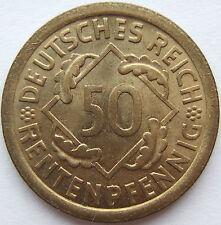 PRIMO TEE! 50 MARCHI RENTENPFENNIG 1923 A in quasi FIOR CONIO RARI