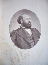 FRANCOIS BAZIN Musicien PORTRAIT LITHOGRAPHIE DE 1869