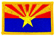 FLAG PATCH PATCHES ARIZONA IRON ON EMBROIDERED UNITED STATES USA STATE