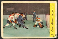 1959 60 PARKHURST HOCKEY #1 CANADIENS PLANTE ON GUARD