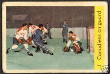 1959 60 PARKHURST HOCKEY #1 CANADIENS PLANTE ON GUARD