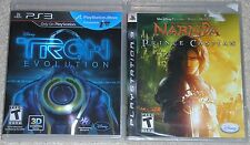 PS3 Game Lot - Disney TRON Evolution (Used) NARNIA Prince Caspian (New)