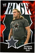 WWE Edge 2008 Topps Collectors Set Jumbo Authentic Event Worn Shirt Relic Card