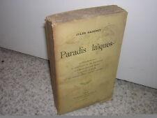 1908.paradis laïques / Jules Sageret.zola fouriérisme