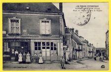 cpa VILLAGE de CONDÉ sur HUISNE (Orne) Commerce BAZAR PARISIEN COIFFEUR MAILLARD