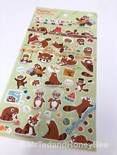 Cute Kawaii Stickers Fun Fox Foxes Deco Diary Journal Scrapbook Planner Supplies