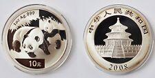 10 Yuan Münze China Silber Feinsilber 1 Unze 1 Oz 2008 Panda Stempelglanz