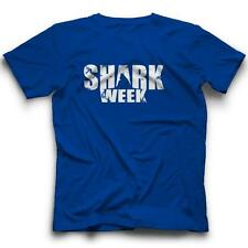 Shark Week Fin T-Shirt TV Discovery Channel Funny New Tee