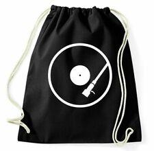 Plattenspieler Turnbeutel DJ Turntables Vinyl Sportbeutel Jutebeutel Rucksack