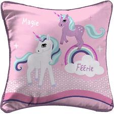 Kissen m. Füllung 40x40cm Einhorn Unicorn Mädchen rosa Mikrofaser bedruckt Pferd