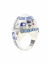 Disney Star Wars R2-D2 Ring Droid Robot Bling Faux Jewels Pinkie Ring Size 7