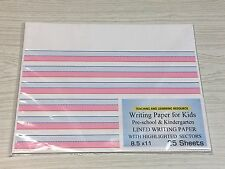 Writing Paper for Kids -  Lined Writing Paper Highlighted , 20 lb, 25 sheets