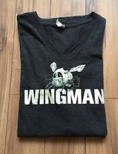 Tennessee Jack Daniels Black Wingman T Shirt Top V Neck Large