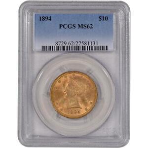 US Gold $10 Liberty Head Eagle - PCGS MS62 - Random Date