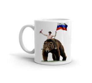 Putin Vodka Bear Russian Flag Funny Birthday Party Gift Cute - 11 Oz Coffee Mug