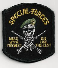 SPECIAL FORCES - MESS WITH THE BEST - IRON or SEW-ON PATCH