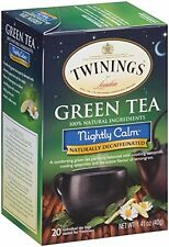 Twinings Green Tea, Nightly Calm, 20 Count Bagged Tea (6 Pack)