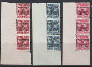 Samoa, Scott 163-165 (SG 177-179), MNH strips
