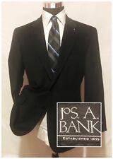 New Jos A Bank Mens Silk Wool Blazer Jacket Sports Coat Black Size 41R