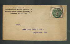 1915 Cananea Sonora Mexico cover to Magdalena Local Issues Revolution