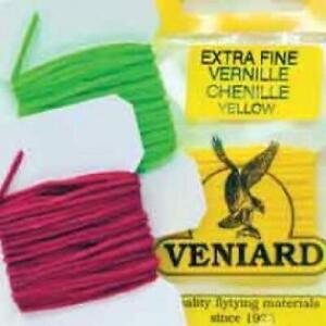 Veniard Extra Fine Vernille Chenille   Micro Chenille   Choice of Colour   Fly T