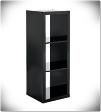 Storage Bin Cabinet Organizer 3 Cube Vinyl Record Shelf LP Crate Vintage Shelves