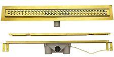 Duschrinne Ablaufrinne Duschablauf Bodenablauf 80cm Siphon Ablauf Bad Rinne Gold