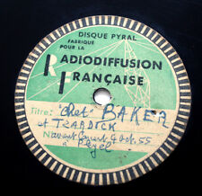 DICK TWARDZIK & CHET BAKER My old flame 1955 french PRIVATE UNRELEASED ACETATE