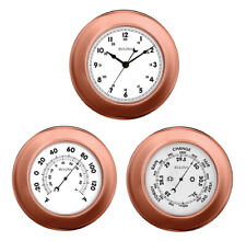 Bulova Info Station Metallic Wall Thermometer, Barometer and Clock Set C4829