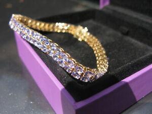 Gorgeous AA Tanzanite 9K Gold Tomas Rae Bracelet 14.61cts