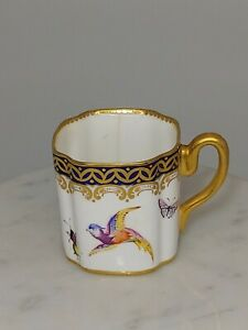 18th C. WORCESTER CUP BIRDS BUGS INSECTS c. 1760 - 1770