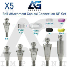 5 Ball Attachment Abutment Set NP Conical Connection Titanium Dental Implant