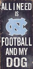 North Carolina Tar Heels Football and Dog Wood Sign [NEW] NCAA Man Cave Den Wall