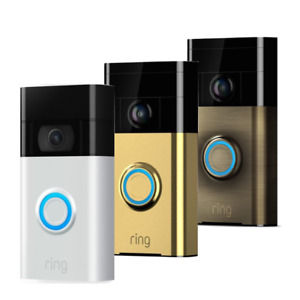 Ring Video DoorBell 720P Camera WiFi Motion, Two Way Audio Monitor - Colours