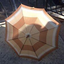 "Vintage 1960's Weather Parasol Umbrella Approximate Size 29L x 34""W Light Brown"